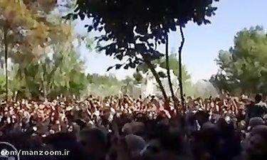 همخوانی مردم با ترانه «ای جان» بهنام صفوی در مراسم تشییع